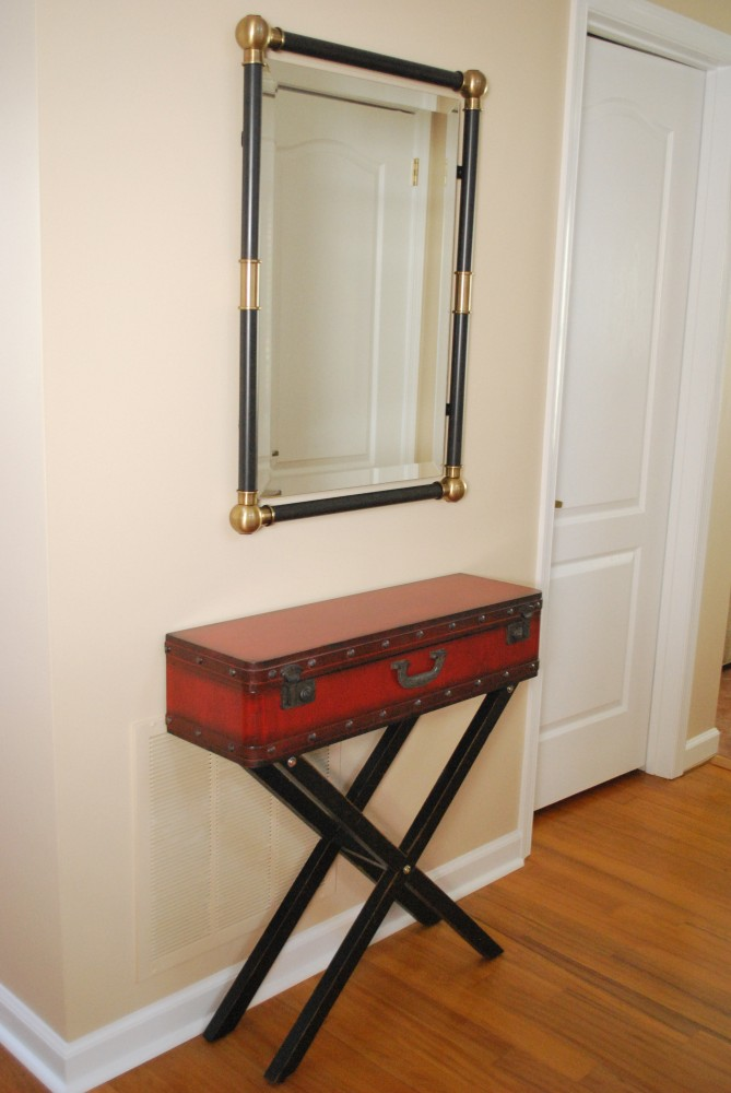 Uttermost Mirror and hall Table