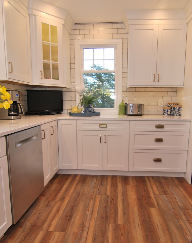 White and Navy Kitchen Redesign