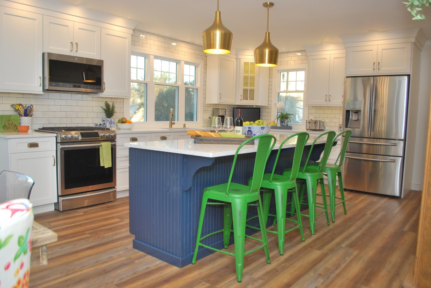 Navy Kitchen South Jersey | Haddonfield NJ | Distinctive Interior Designs