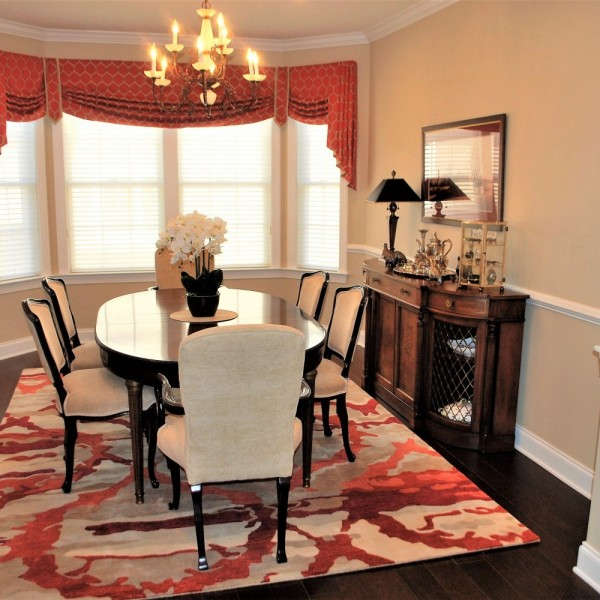 Mix of Modern and Antiques Dining | Skillman NJ | Distinctive Interior Designs
