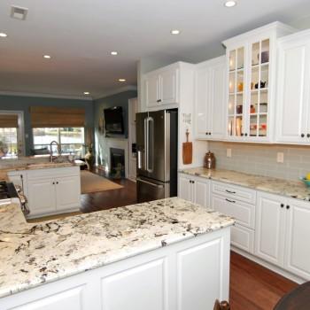 Lake House White Kitchen | Marlton NJ | Distinctive Interior Designs