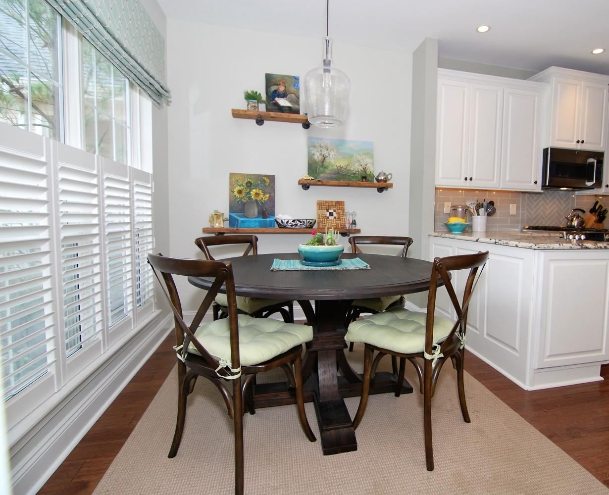 Lake House Dinette After | Marlton NJ | Distinctive Interior Designs