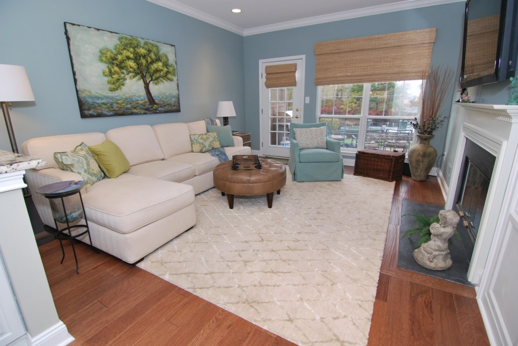 White Sectional Spa Blue Paint | Marlton NJ | Distinctive Interior Design