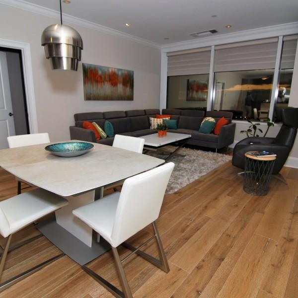 BoConcept Modern Sectional Dinette | Philadelphia PA | Distinctive Interior Designs LLC
