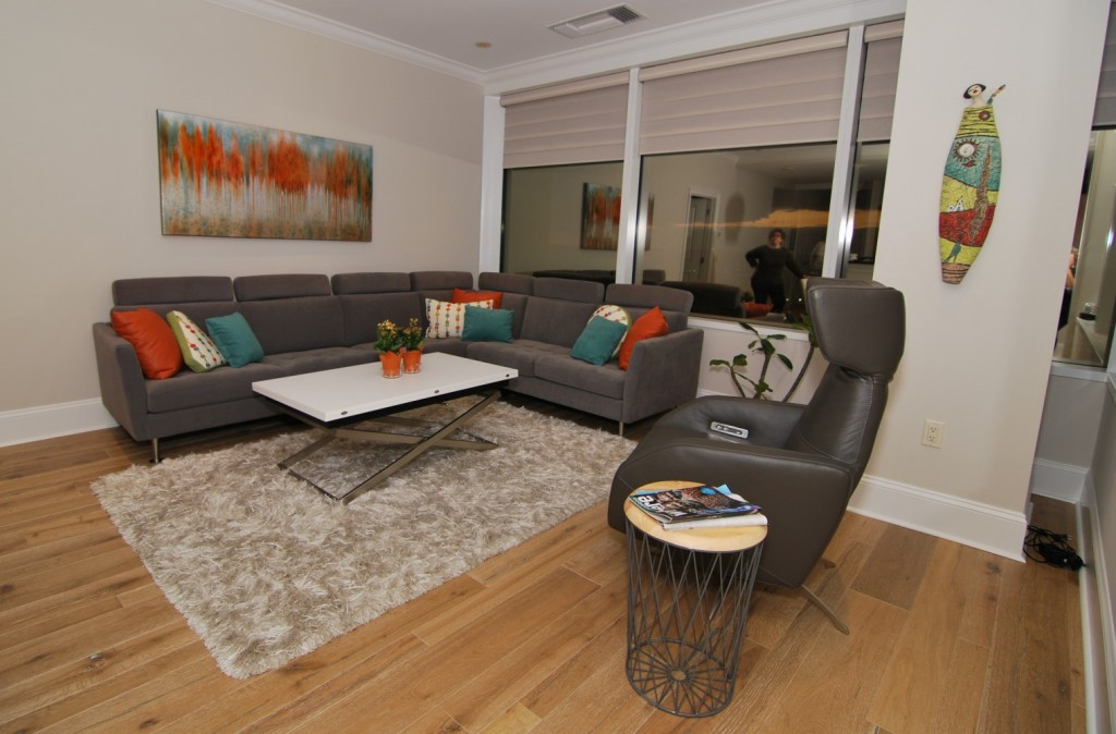 Phily contemporary city condo living areas