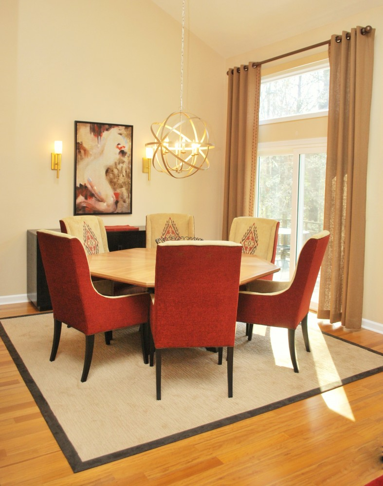 Contemporary Red Dining Room