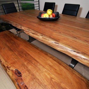 Urban Loft Live Edge Table | Philadelphia PA | Distinctive Interior Designs LLC