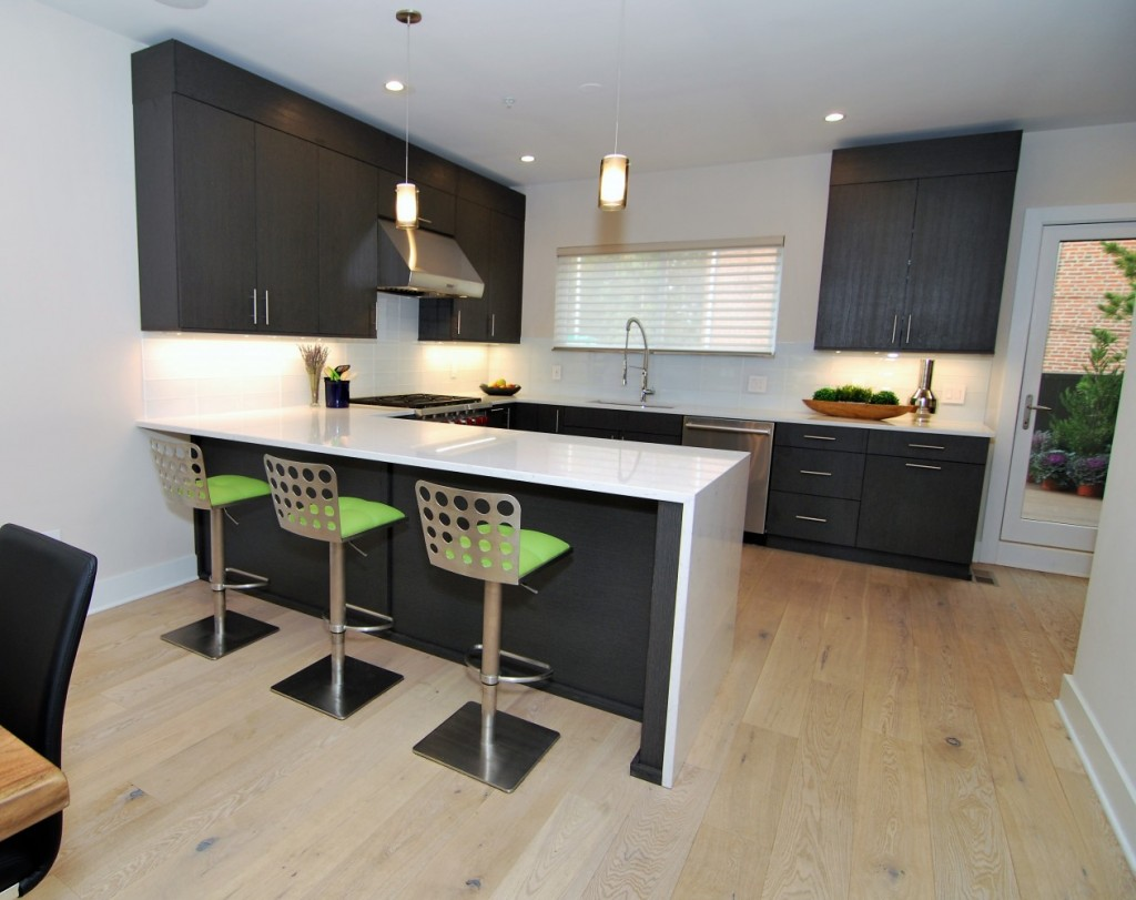 Urban loft wired brushed black cabinet kitchen