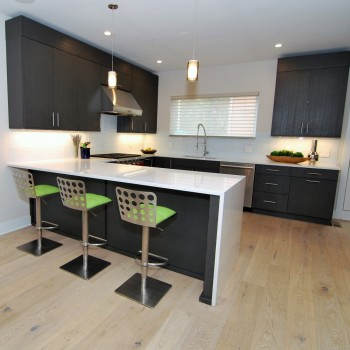 Urban Loft Wirebrushed Black cabinets | Philadelphia PA | Distinctive Interior Designs LLC
