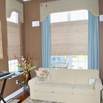Living room area with custom window treatments by NJ and East PA interior design firm Distinctive Interior Designs
