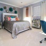 Teen Oasis Grey Blush Bedroom | Marlton NJ | Distinctive Interior Designs