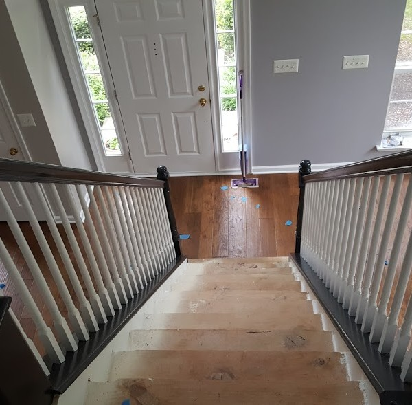 New Stairs and rails | Pennington NJ | Distinctive Interior Designs
