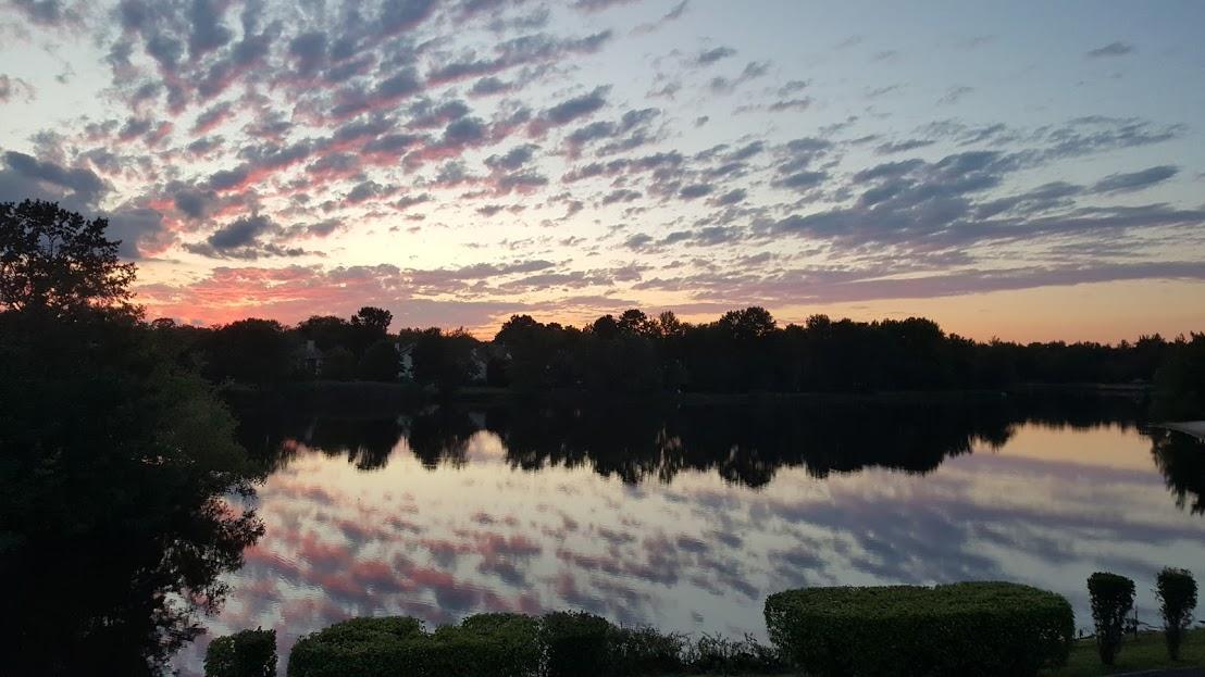 Lake Sunset View | Marlton NJ | Distinctive Interior Designs