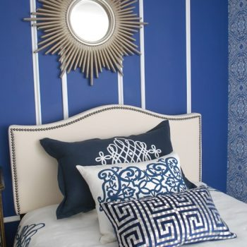 Sparkling Navy White Bedroom | Marlton NJ | Distinctive Interior Designs