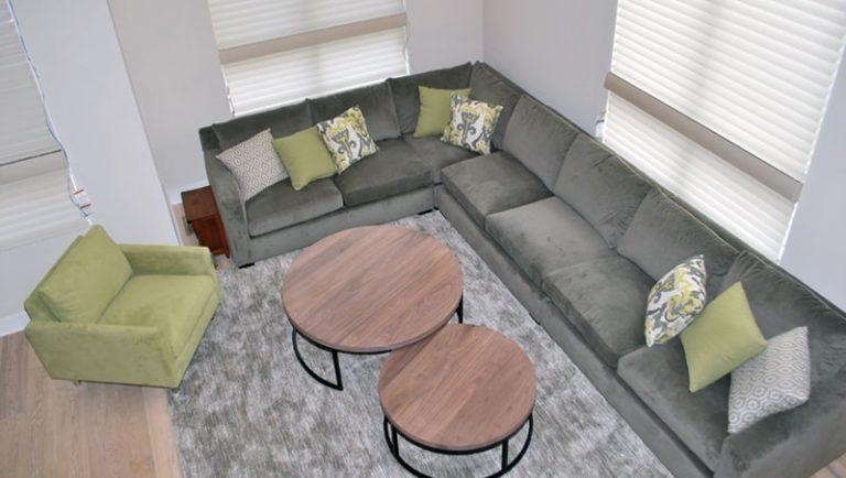 Urban Loft Green Grey | Philadelphia PA | Distinctive Interior Designs