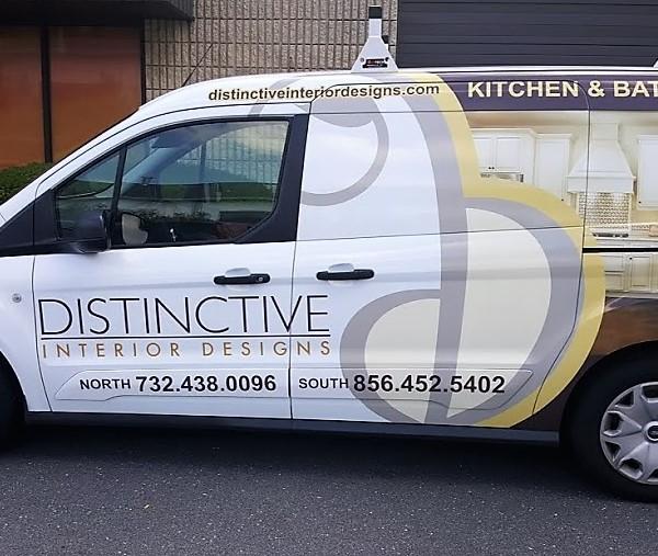 Wrapped Driver's Side Designer Van | Marlton NJ | Distinctive Interior Designs