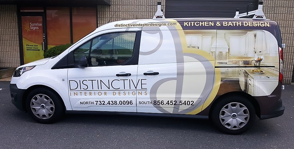Wrapped Driver's Side Designer Van | Marlton NJ | Distinctive Interior Designs