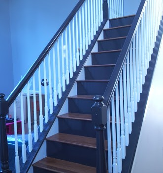Stairs after Renovation | Pennington NJ | Distinctive Interior Designs