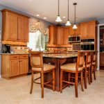 Kitchen After Improved Granite Island | Monroe NJ | Distinctive Interior Designs