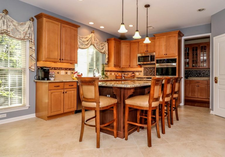 Kitchen After Improved Granite Island | Monroe NJ | Distinctive Interior Designs