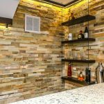 Ledger Stone Wall Floating Shelves | Monroe NJ | Distinctive Interior Designs