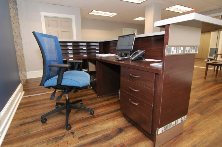 Custom Designed Corporate Desk Details| Cherry Hill, NJ | Distinctive Interior Designs