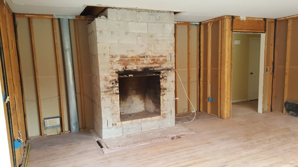 Family Room Fireplace raw