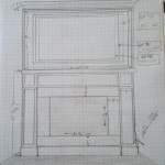 Fireplace redesign sketch | South Jersey | Distinctive Interior Designs