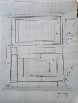 Family Room Fireplace sketch
