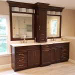 Master Bath Double Vanity with Tower | Cranbury NJ | Distinctive Interior Designs
