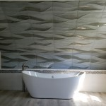 3D Wave Tile in Master Bath | Cranbury NJ | Distinctive Interior Designs