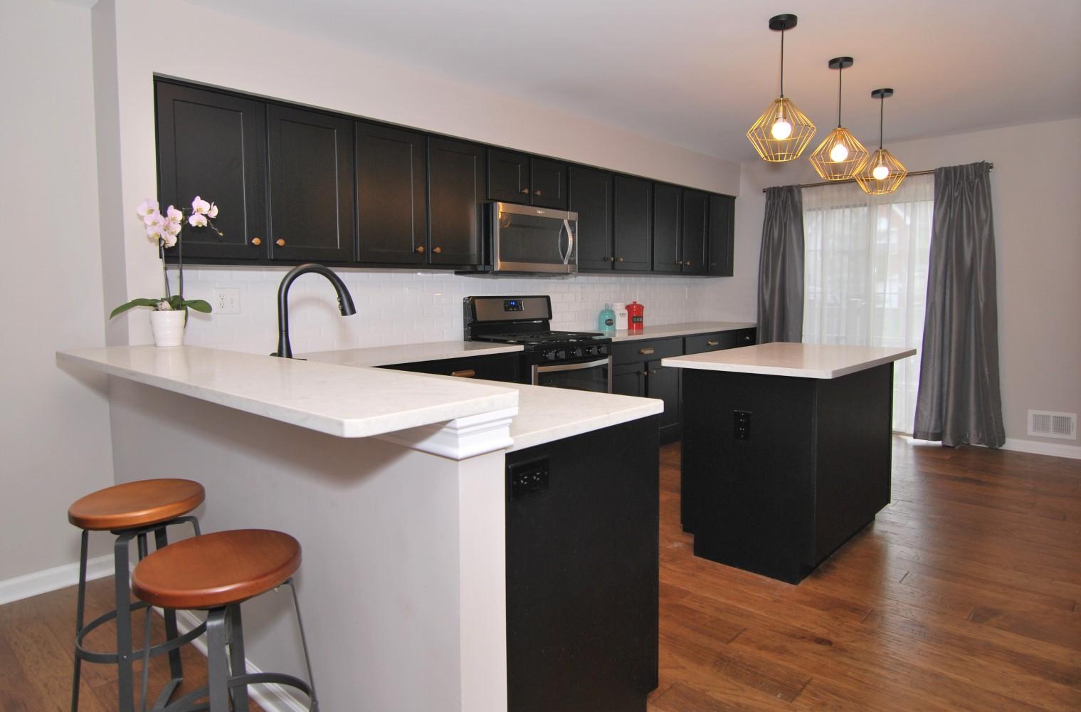 Black and white Asian style kitchen | Pennington NJ | Distinctive Interior Designs