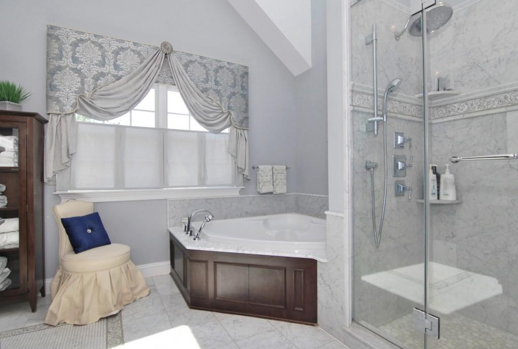 Elegant Master bath tub and shower