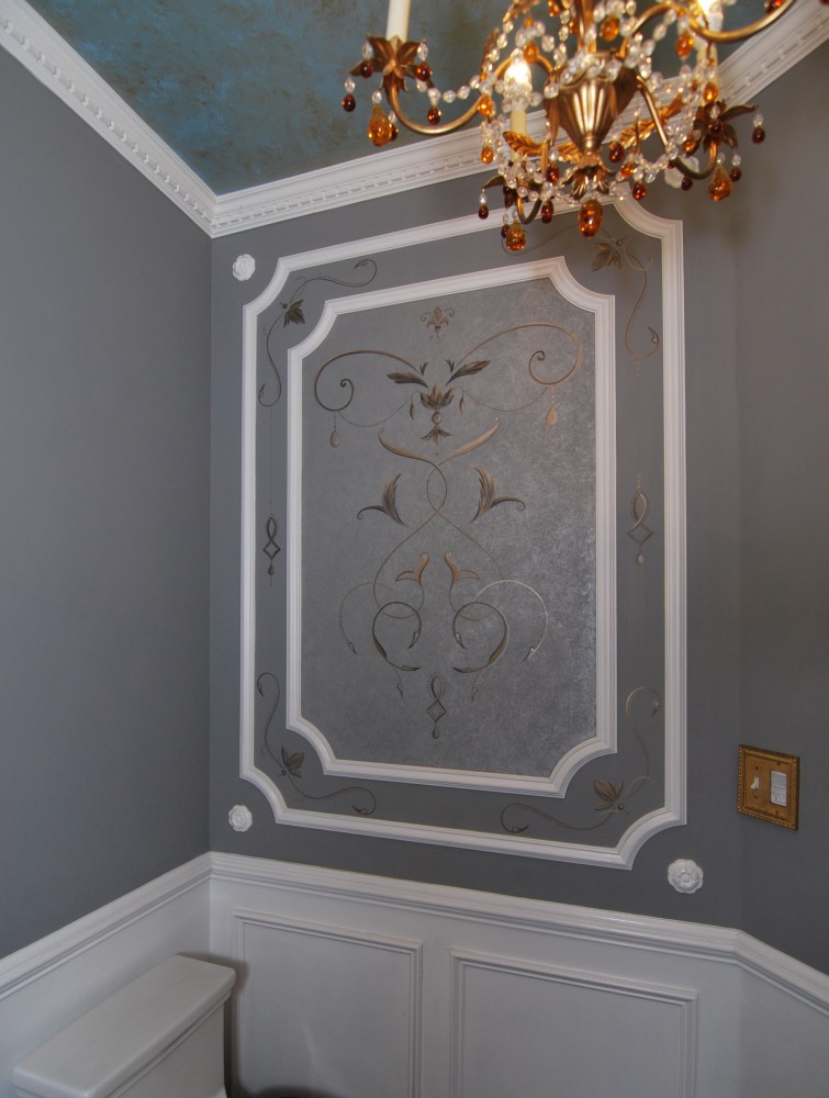 Powder Room accent wall