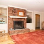 Family room fireplace before photo NJ interior designer Distinctive Interior Designs
