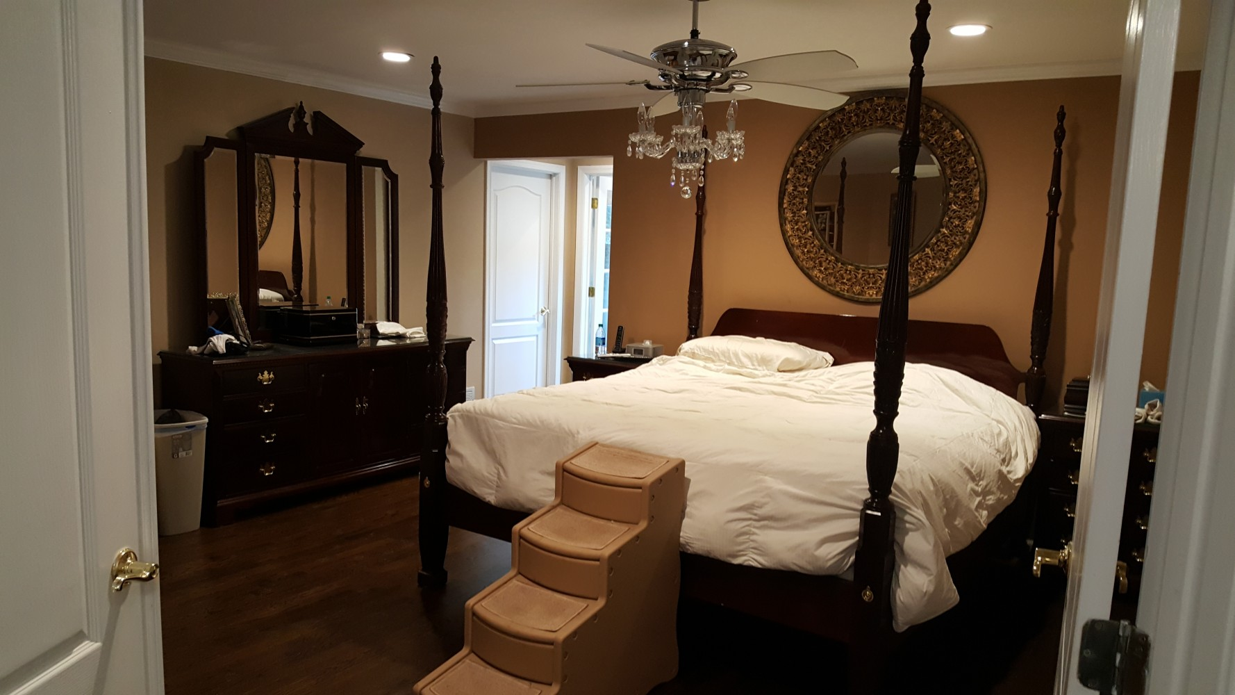 Master Bedroom before photo project by NJ interior design firm Distinctive Interior Designs