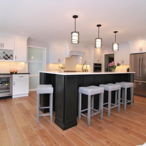 Black & White Kitchen Renovation | Princeton NJ | Distinctive Interior Designs