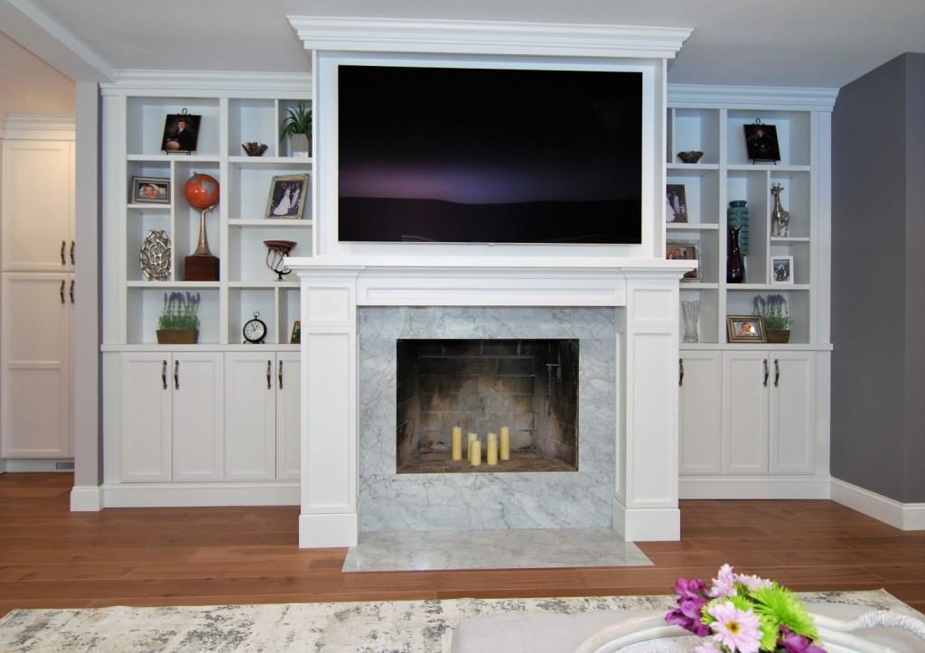 Fireplace Custom Built in | Cranbury NJ | Distinctive Interior Designs