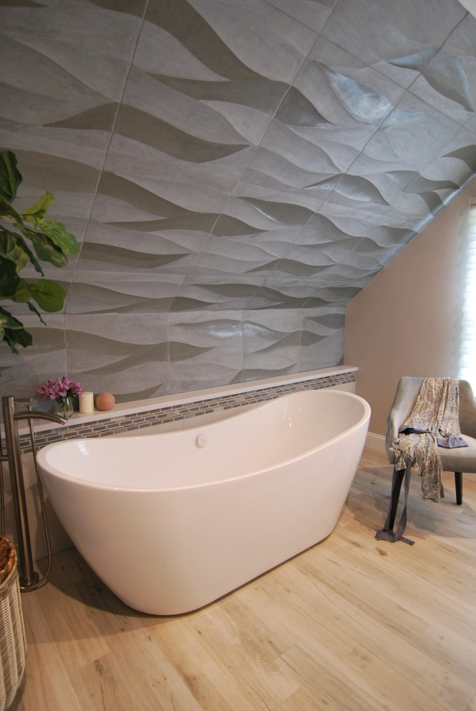 Wave Tile Bathroom Design Cranbury Nj Distinctive