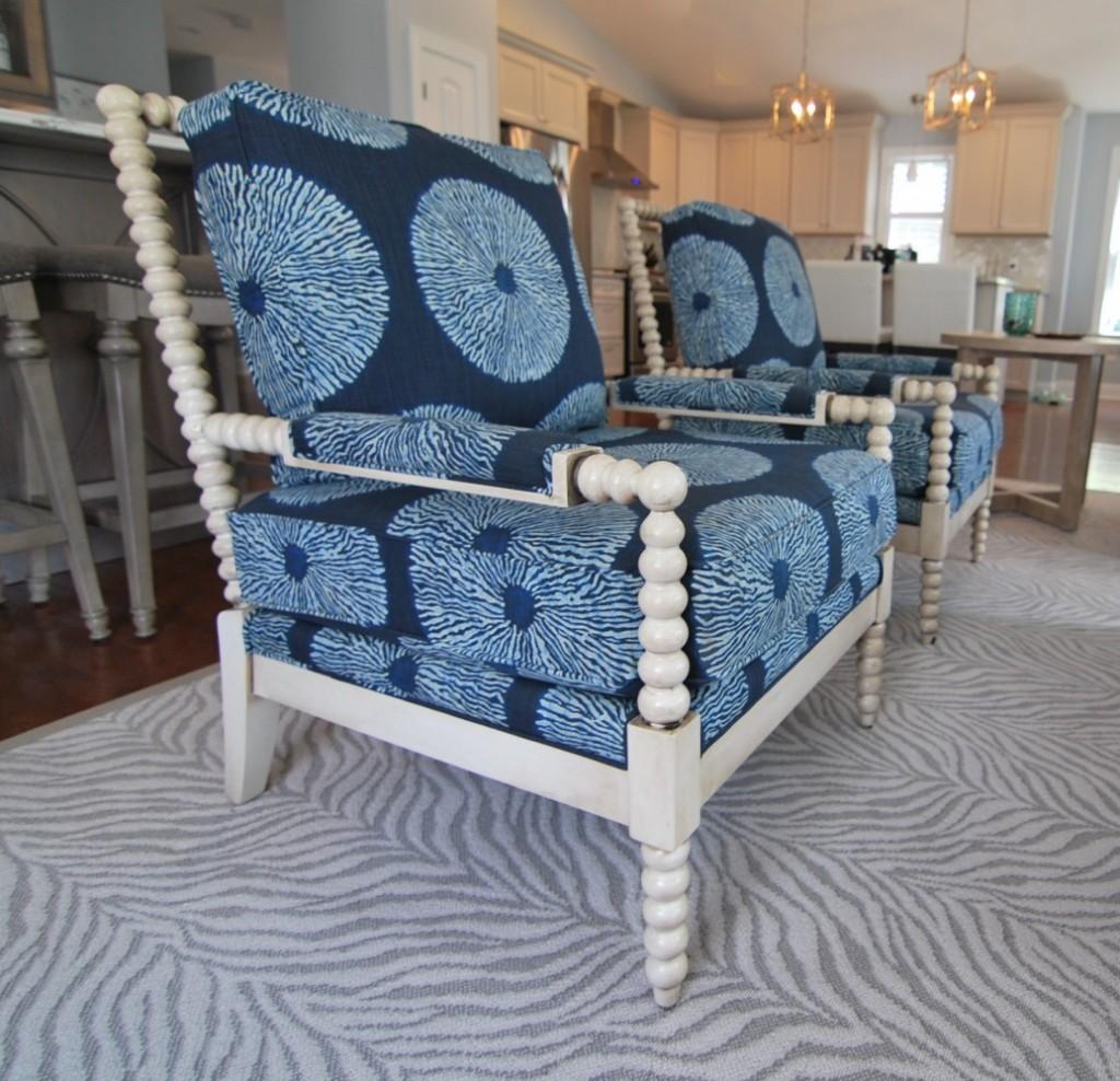 Beachy navy chairs