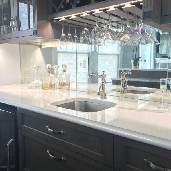 Mirrored Backsplash Beach Bar | Cape May NJ | Distinctive Interior Designs