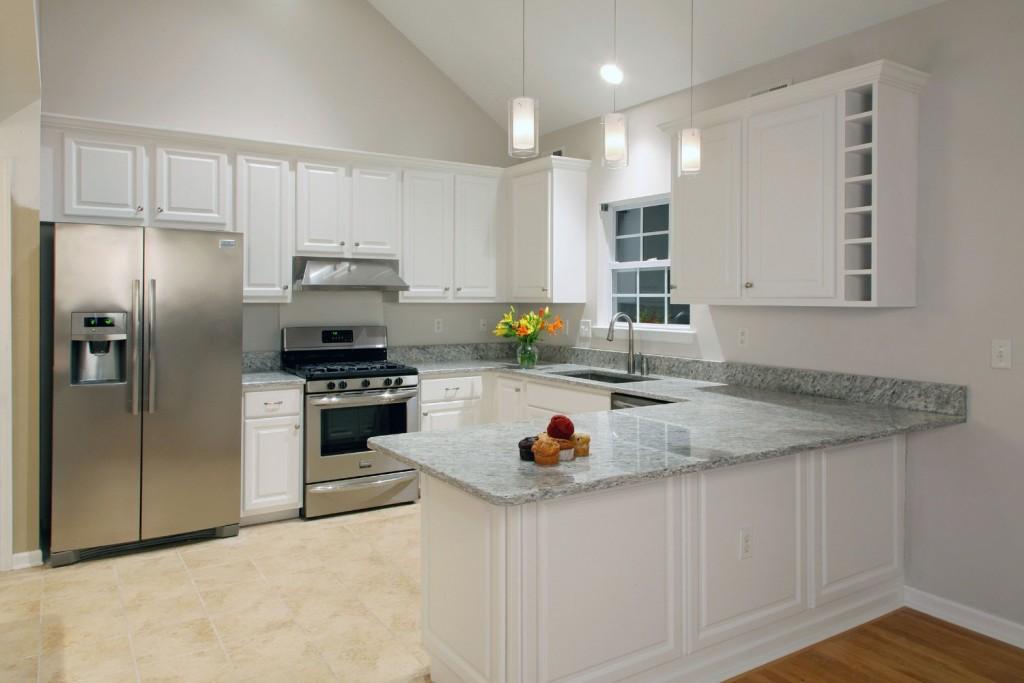 White Cabinet Refacing   Lawrenceville NJ   Distinctive Interior Designs