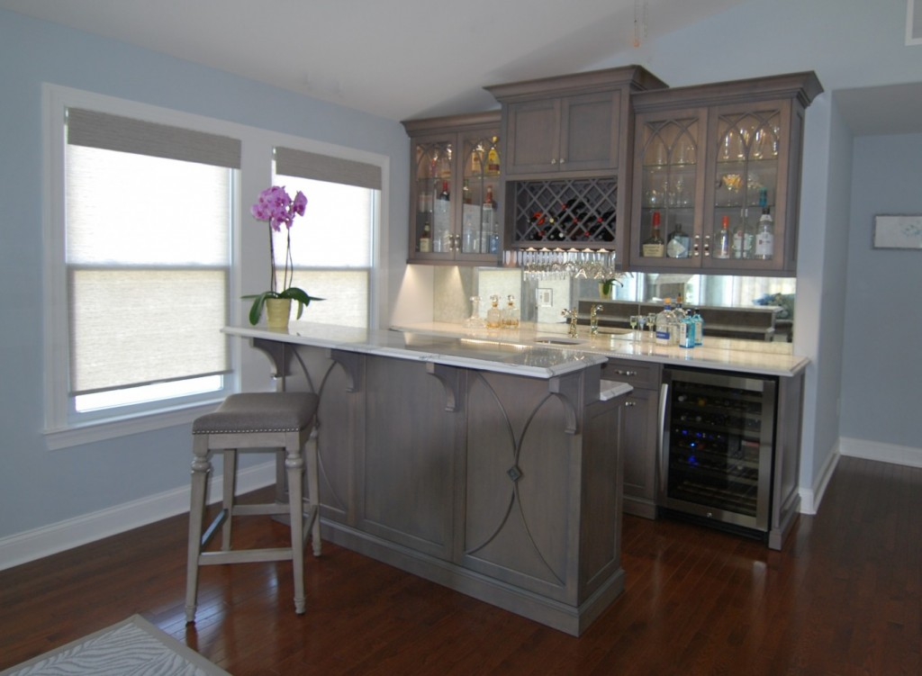 Custom Grey Beach Bar | Cape May NJ | Distinctive Interior Designs