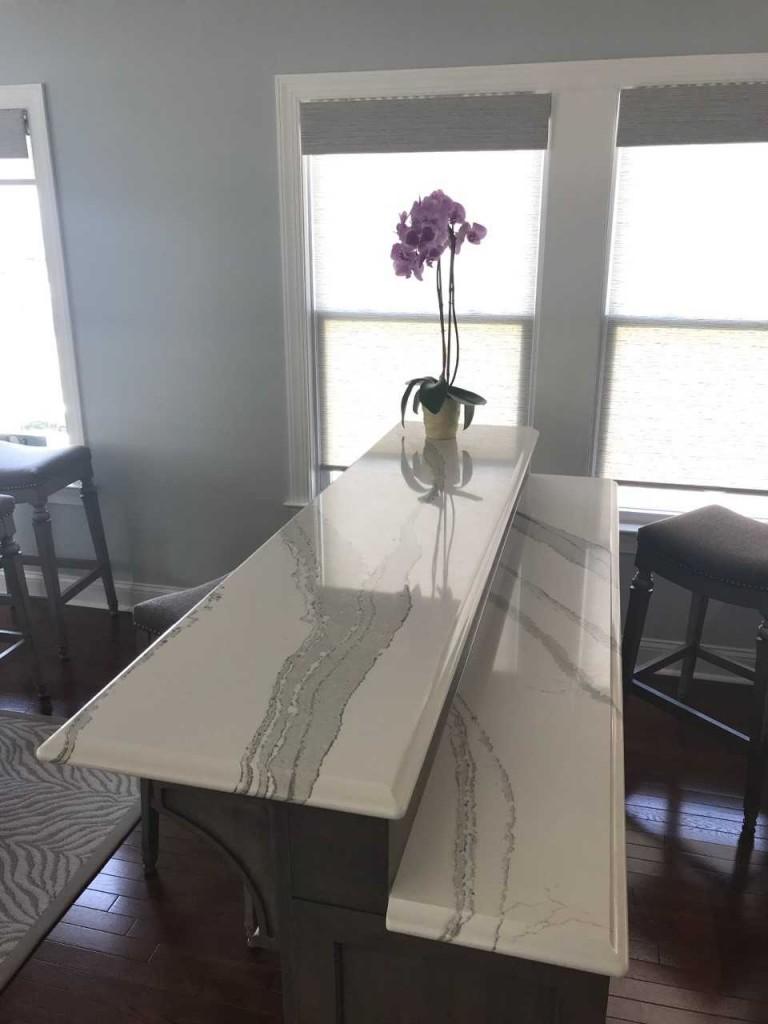 custom bar top Cambria Brittannica quartz counter