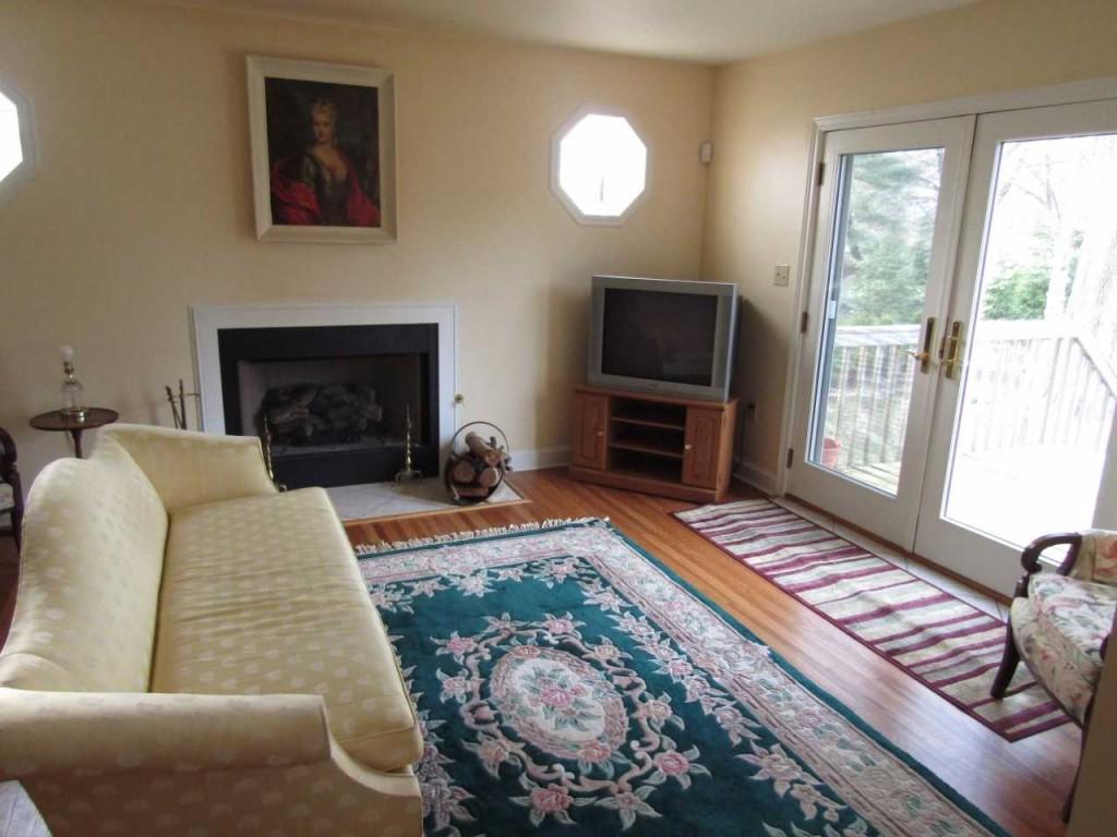 Dinette area fireplace