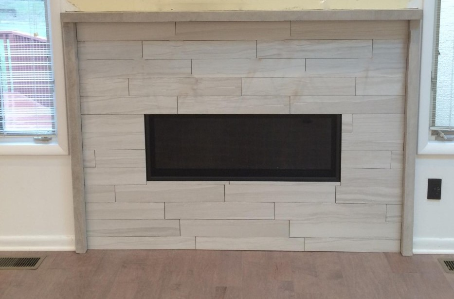 Modern Fireplace Redesign | Princeton, NJ | Distinctive Interior Designs