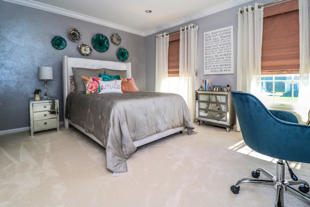 Grey & Blush Teen Oasis | Monroe NJ | Distinctive Interior Designs