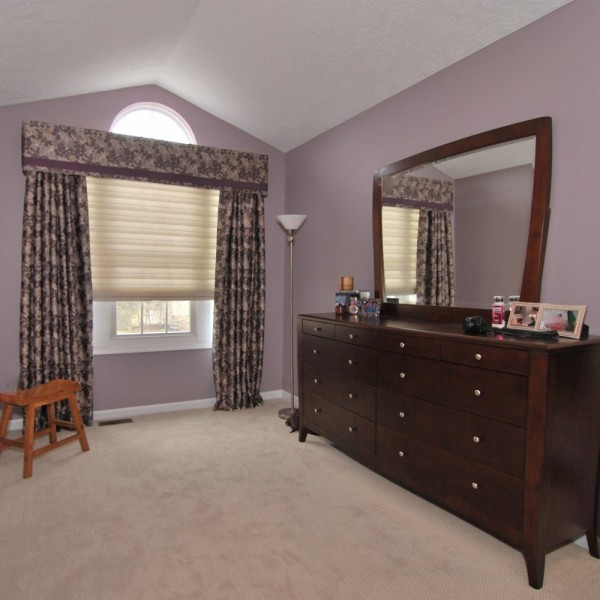 Dusty Lavendar Transitional Master Bedroom | Cherry Hill NJ | Distinctive Interior Designs