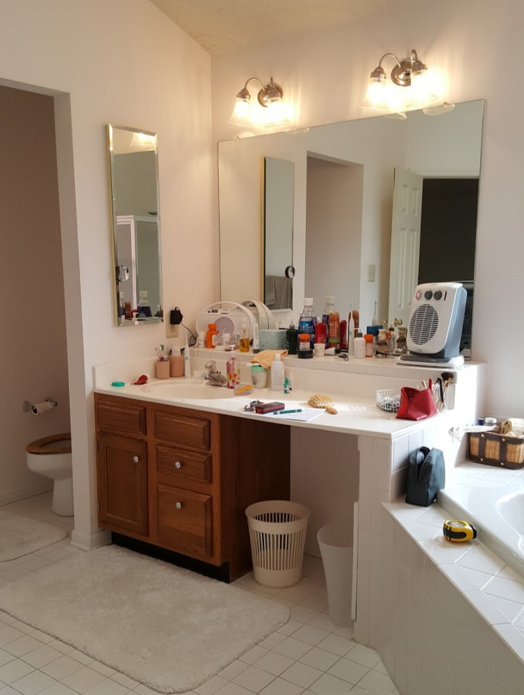 master vanity and toilet before
