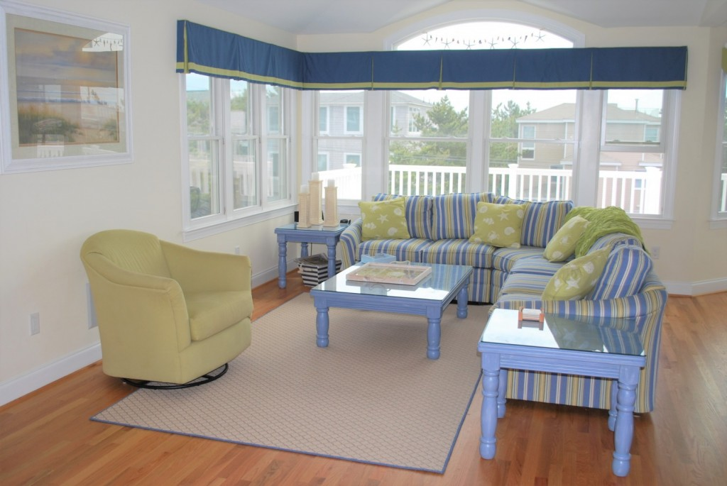 Blue & Green Beach House Design